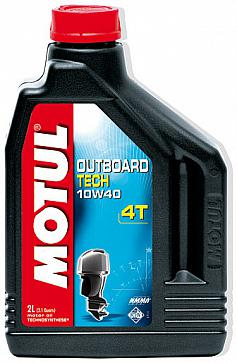 Mоторное масло Motul Outboard Tech 4T (SAE 10W-40 2л)